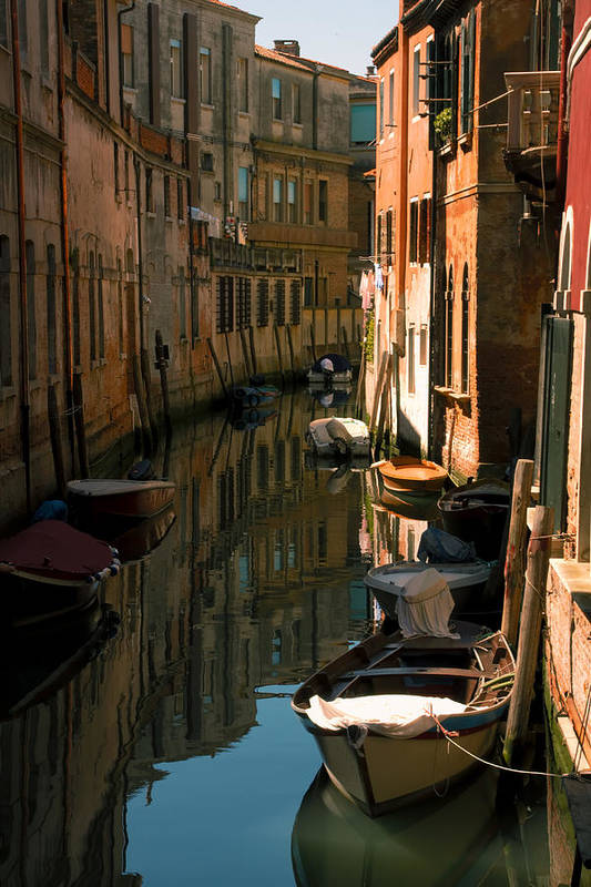 Venice Art Print featuring the photograph Back Canal in Venice by Michael Henderson