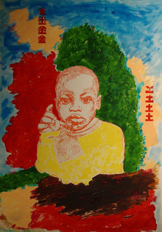 Art Print featuring the painting Bambino with colors by Biagio Civale