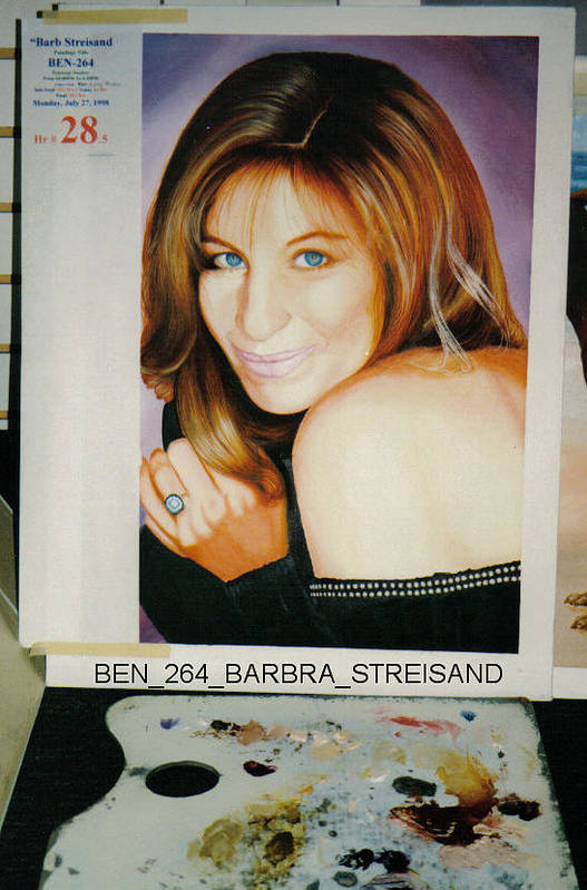 Portraits Art Print featuring the painting Barbra Streisand by Benito Alonso