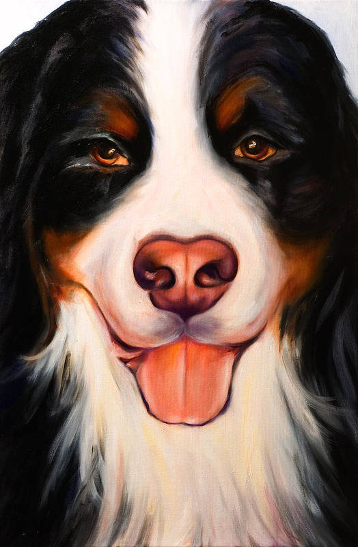 Dog Art Print featuring the painting Big Willie by Shannon Grissom