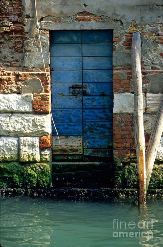 Venice Art Print featuring the photograph Blue Door in Venice by Michael Henderson