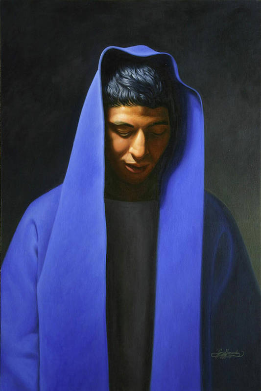 Art Print featuring the painting Blue by Gary Hernandez