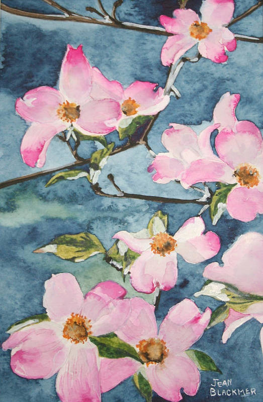 Flowers Art Print featuring the painting Blushing Prettily by Jean Blackmer
