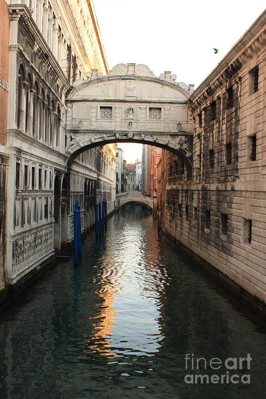 Venice Art Print featuring the photograph Bridge Of Sighs In Venice In Morning Light by Michael Henderson
