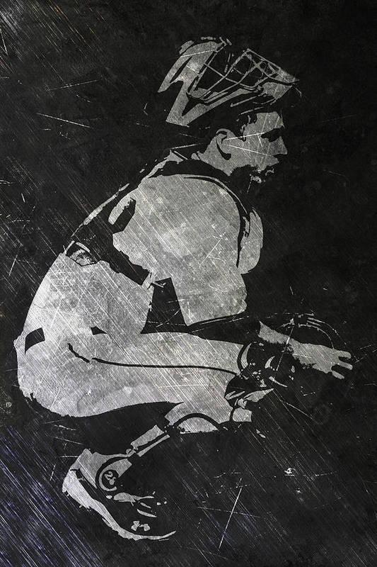 Buster Posey San Francisco Giants Art Art Print By Joe Hamilton