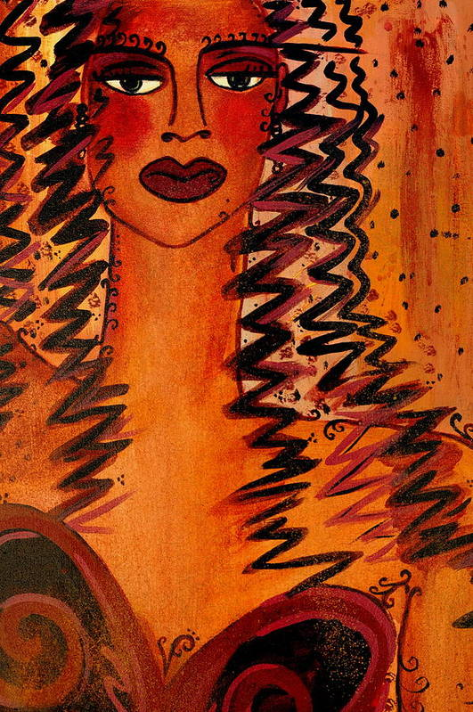 Cigar Art Print featuring the painting Cigar Makers Daughter by Helen Gerro