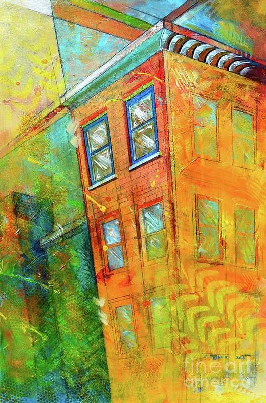Building Art Print featuring the painting Cornice by Christopher Triner
