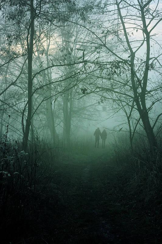 Dark Art Print featuring the photograph Dark Paths by Cambion Art