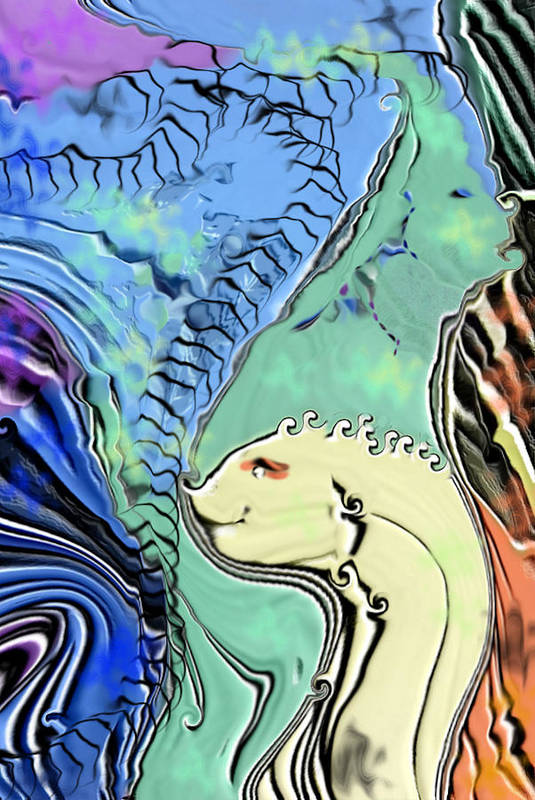 Fantasy Air Art Print featuring the digital art Different Points of View by Stephanie H Johnson