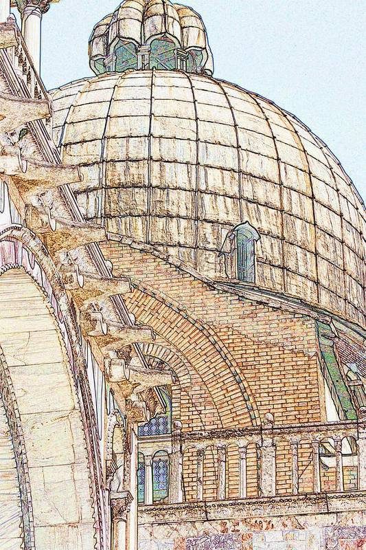 Venice Art Print featuring the photograph Dome on St. Mark's in Venice by Michael Henderson