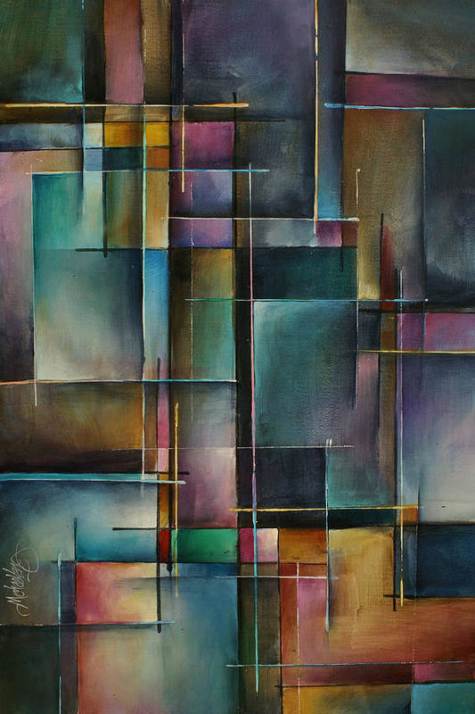 Abstract Art Print featuring the painting Doorway to... by Michael Lang