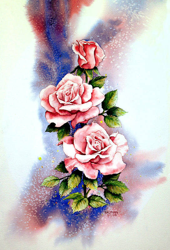Floral Art Print featuring the painting Dream Roses by Brooke Lyman