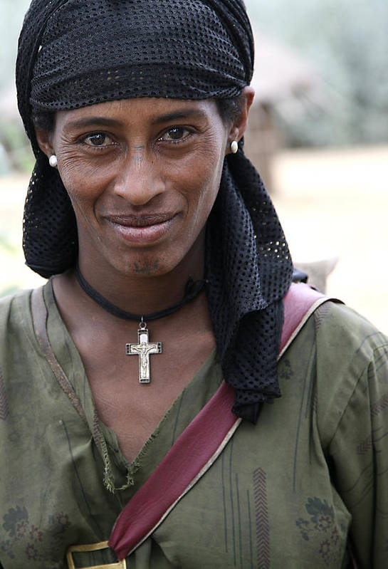 Ethiopia Art Print featuring the photograph Ethiopian woman by Marcus Best
