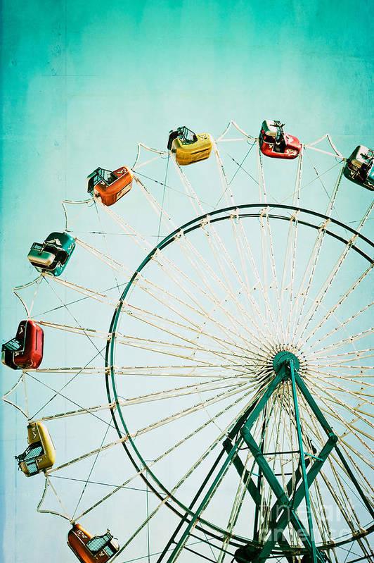 Ferris Wheel Art Print featuring the photograph Ferris Wheel 2 by Kim Fearheiley