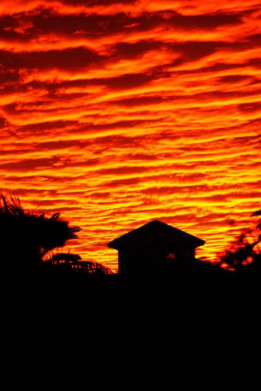 Florida Art Print featuring the photograph Fire Sky by Florene Welebny