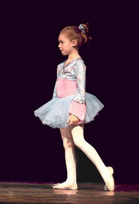 Child Ballerina. Art Print featuring the digital art First Recital by John Helgeson