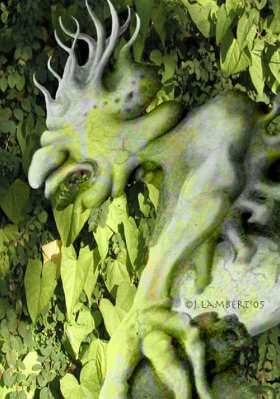 Green Art Print featuring the digital art Floater In The Forrest by J P Lambert