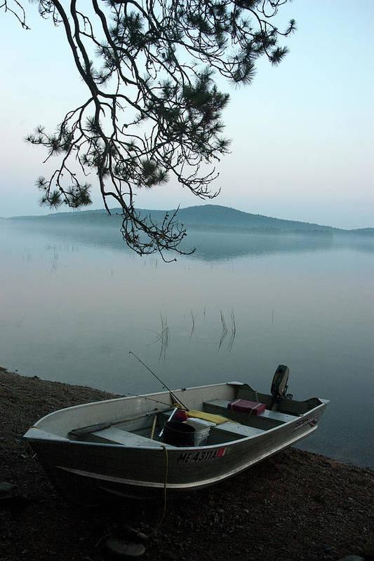 Boats Art Print featuring the photograph Fog On The Water by Robert Anschutz