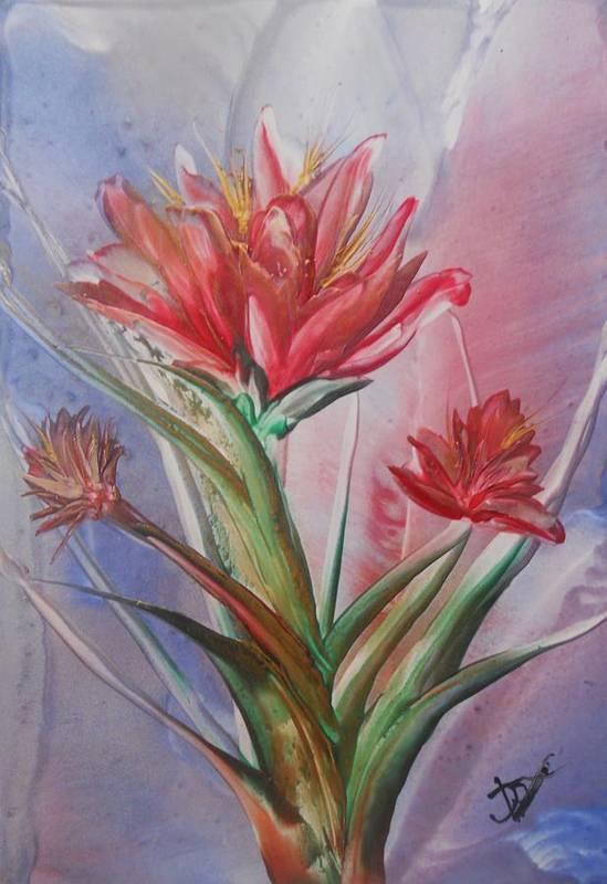 Art Print featuring the painting Full Bloom by John Vandebrooke