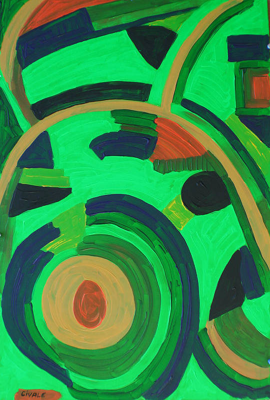 Garden Art Print featuring the painting Garden project by Biagio Civale