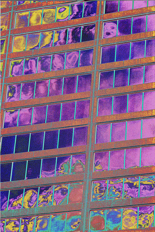 Psychedelic Art Print featuring the photograph High Roller Suites At The Flamingo Hotel by Richard Henne