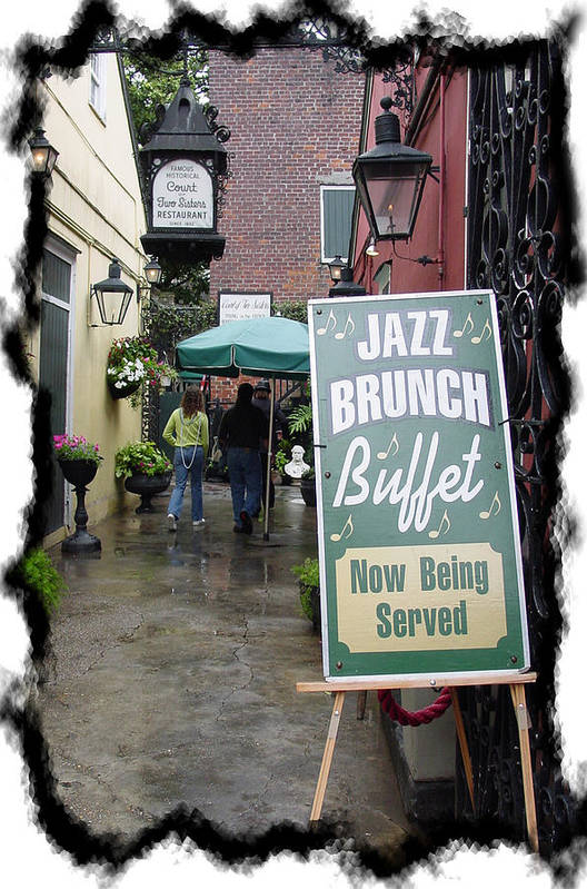 New Orleans Art Print featuring the photograph Jazz Brunch by Linda Kish