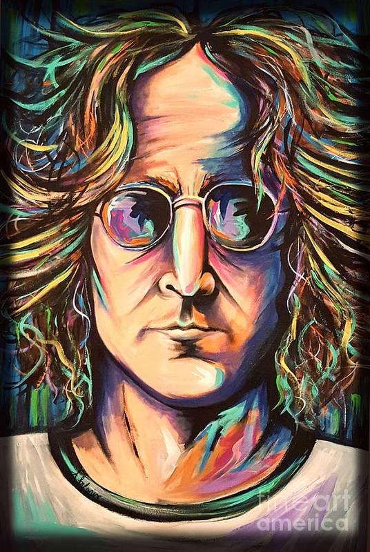 John Lennon Art Print featuring the painting John Lennon by Amy Belonio