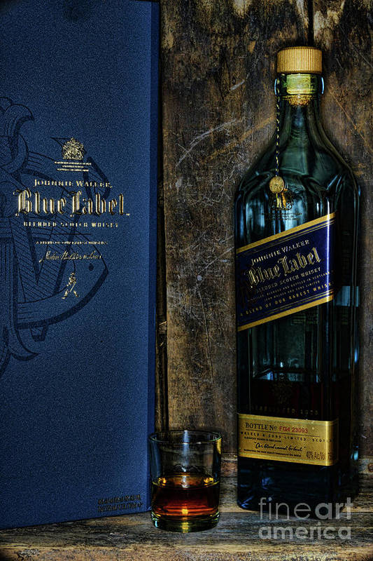 Paul Ward Art Print featuring the photograph Johnny Walker Blue Label Whisky by Paul Ward