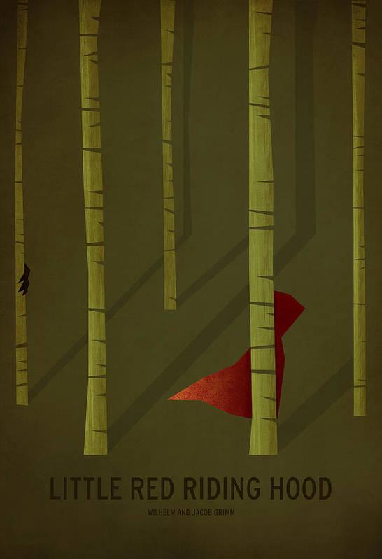 Stories Digital Art Art Print featuring the digital art Little Red Riding Hood by Christian Jackson