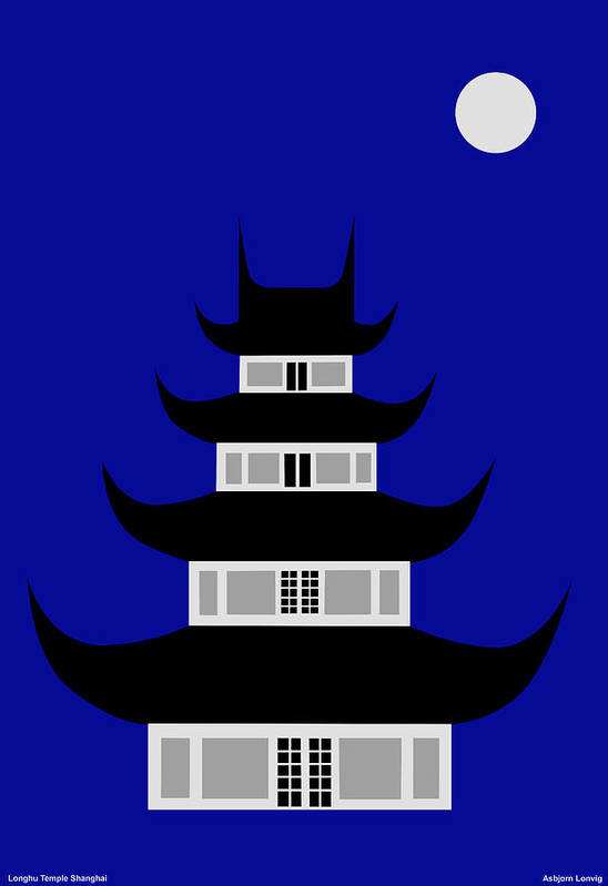 Art Print featuring the digital art Longhua by Asbjorn Lonvig