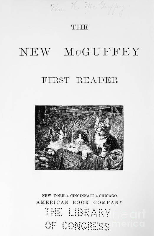 1901 Art Print featuring the photograph Mcguffeys Reader, 1901 by Granger