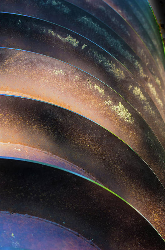 Metal Art Print featuring the photograph Metal Spiral Right by Lea Rhea Photography
