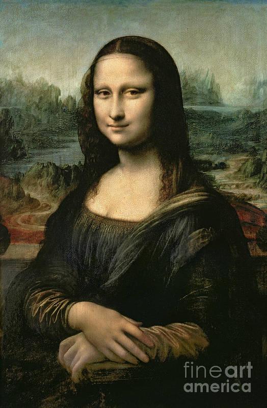 Mona Art Print featuring the painting Mona Lisa by Leonardo da Vinci