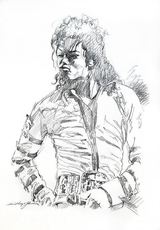 Michael Jackson Art Print featuring the drawing Mr. Jackson by David Lloyd Glover