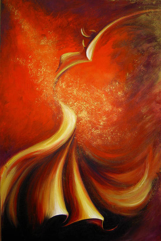 Figure Study Art Print featuring the painting Mystery Dance by Dina Dargo