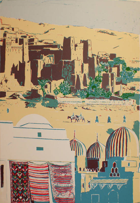 Art Print featuring the print North African landscape by Biagio Civale