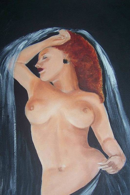 Nude Art Print featuring the painting Nude Bride by Martha Mullins