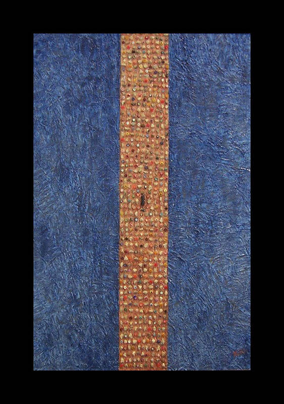 Berlin Wall Art Print featuring the painting Obelisk by Anneliese Fritts