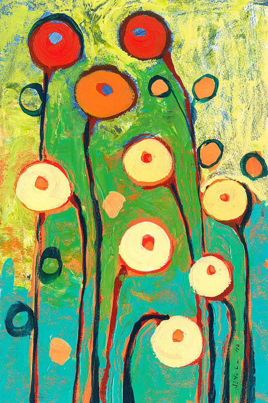 Poppy Art Print featuring the painting Poppy Celebration by Jennifer Lommers