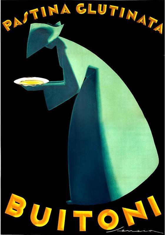 Poster Seneca Pasta Buitoni Quadro Stampa Fine Art su Pannello in Legno Mdf