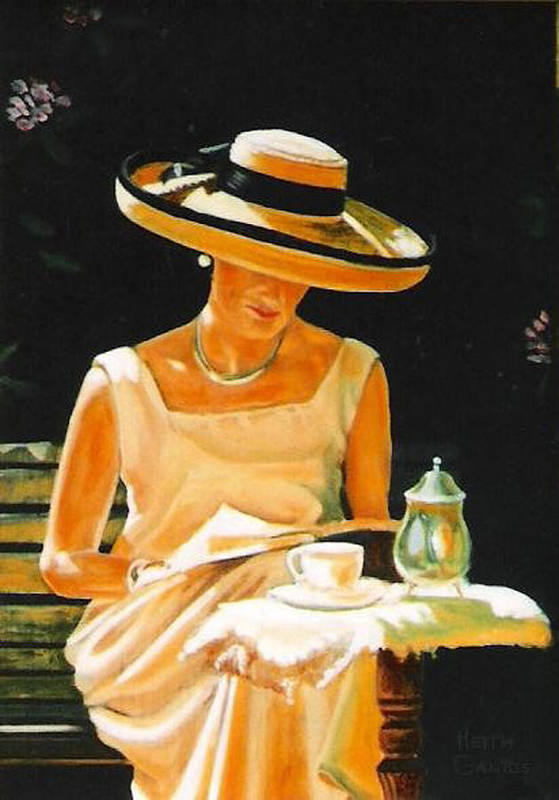 Tea Cup Art Print featuring the painting Quiet time by Keith Gantos
