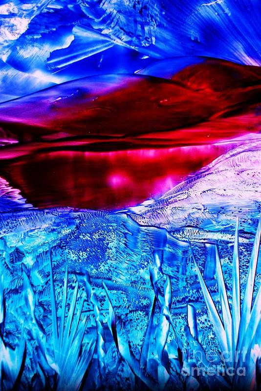 Desert Art Print featuring the painting Red Lake by Melinda Etzold