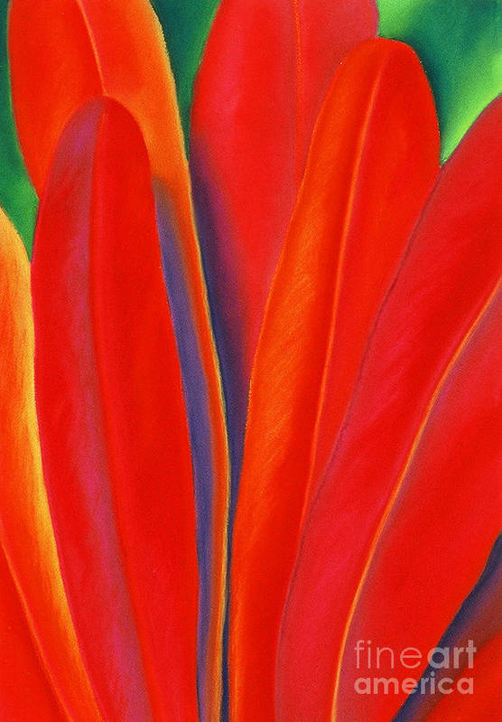 Red Art Print featuring the painting Red Petals by Lucy Arnold