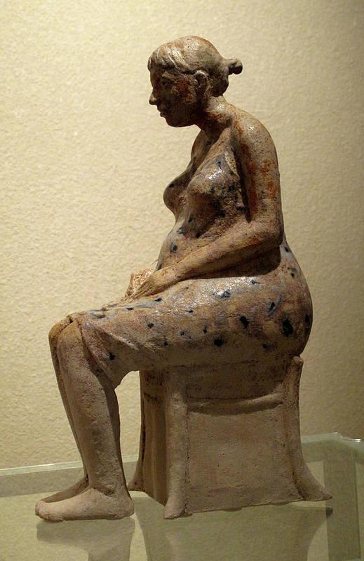 Sculpture Art Print featuring the sculpture Ruta by Raimonda Jatkeviciute-Kasparaviciene