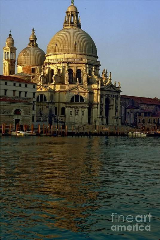 Venice Art Print featuring the photograph Santa Maria Della Salute In Venice In Morning Light by Michael Henderson