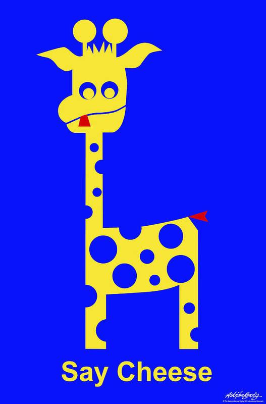 Art Print featuring the digital art Say Cheese by Asbjorn Lonvig
