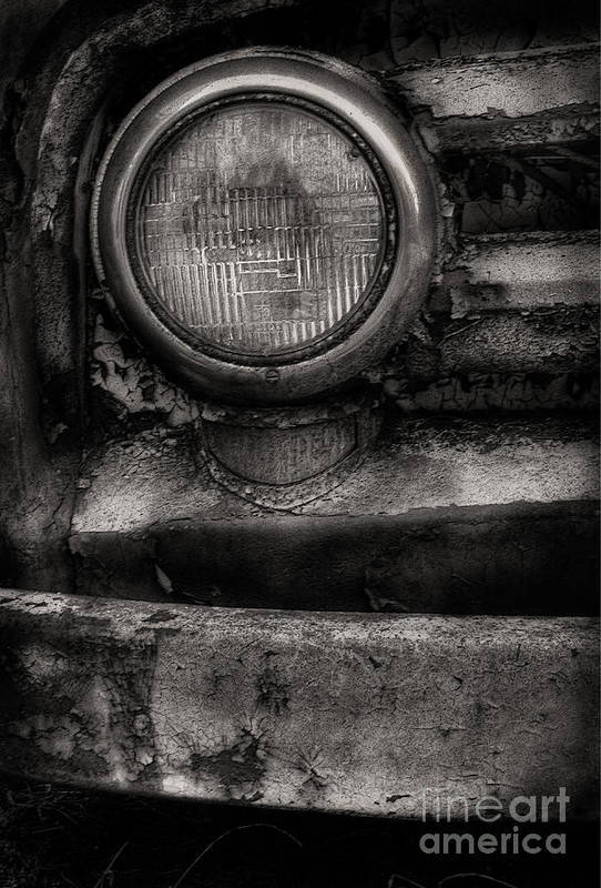Scotopic Art Print featuring the photograph Scotopic Vision 7 - Headlight by Pete Hellmann