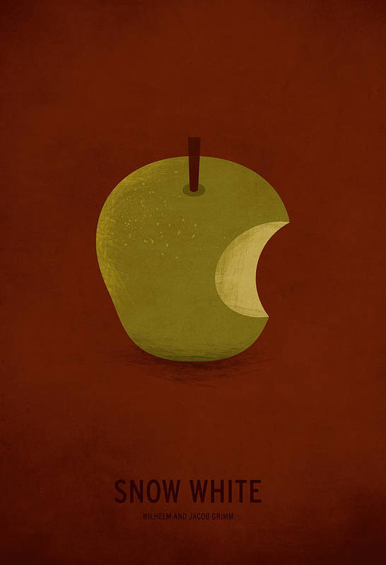 Stories Digital Art Art Print featuring the digital art Snow White by Christian Jackson