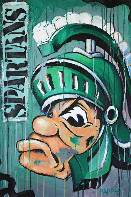 Business Art Print featuring the painting Spartans by Julia Pappas