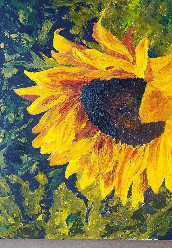 Art Print featuring the painting Sunflower by Tami Booher